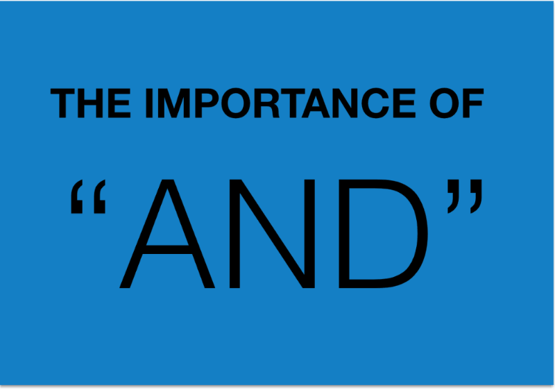 """The importance of """"AND"""""""